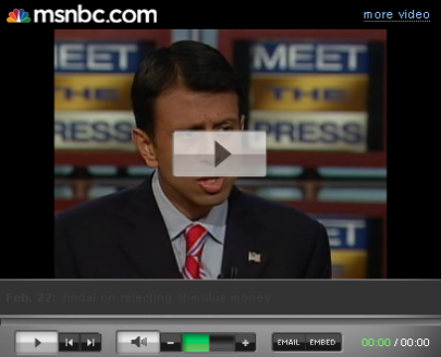 Governor Jindal Presents Case For Not Accepeting Stimulus Money